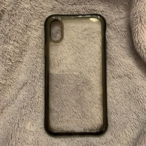 Black and Clear IPhone X & XS Phone Case